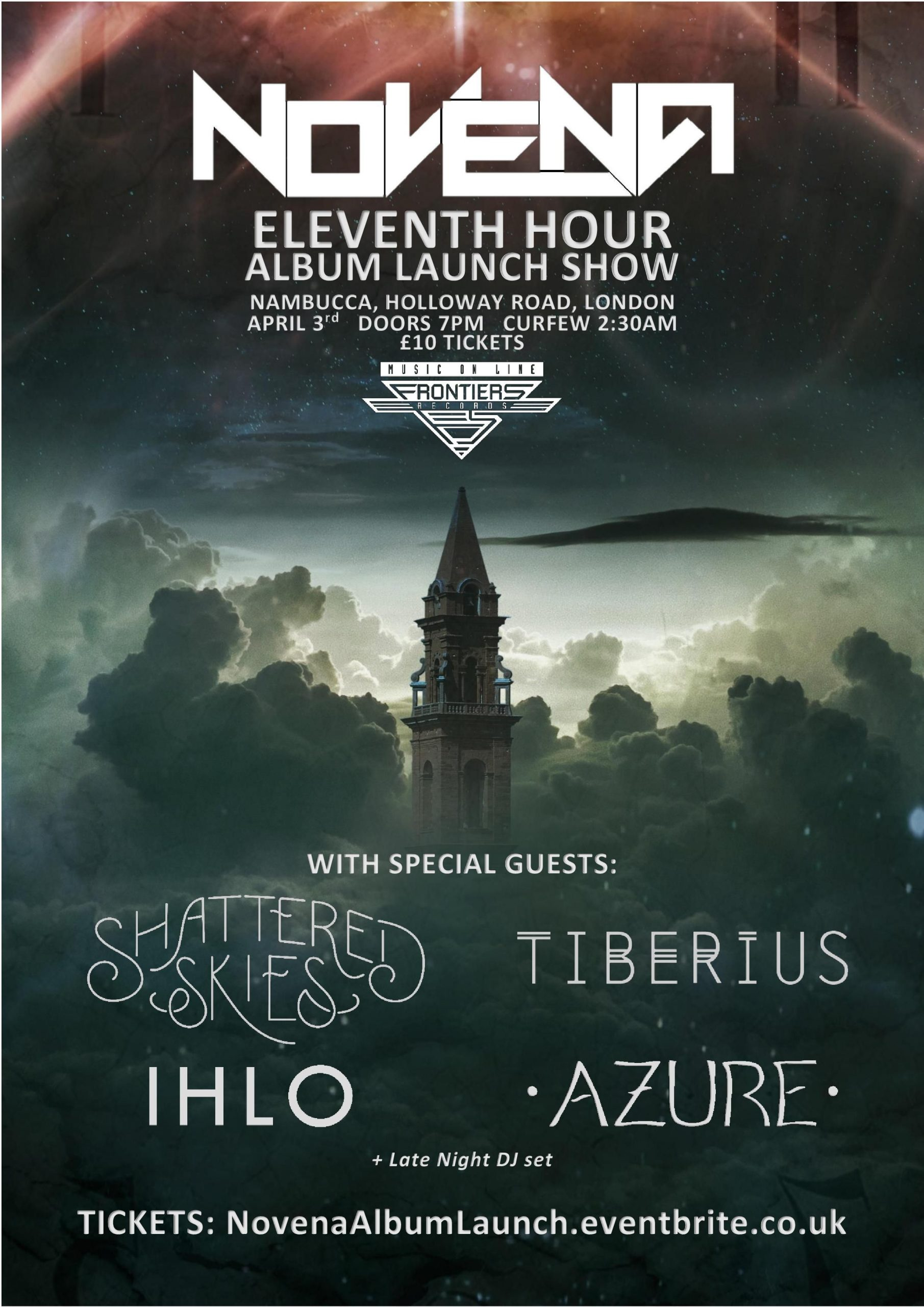 Eleventh Hour Album Launch Show. Nambucca, Holloway Road, London on April 3rd